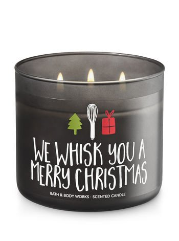 Bath & Body Works Candle 3 Wick 14.5 Ounce Maple Cinnamon Pancakes We Whisk You A Merry Christmas (Merry Christmas Candle)