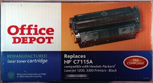 Office Depot Remanufactured Toner Cartridge Replacement for HP C7115A ( Black - Depot Office Recycle