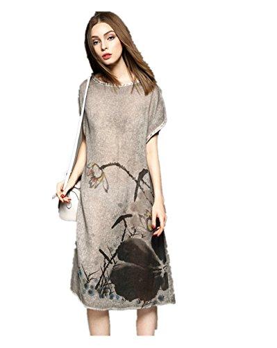 ink print maxi dress - 7