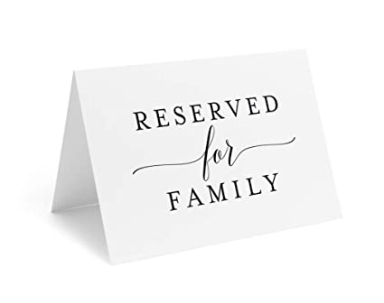 Amazon Reserved Signs For Wedding Reception 4x6 Reserved Table