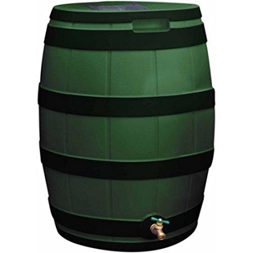Green Ribs Rain Water Harvester 50 Gallon Barrel by Rain Vault