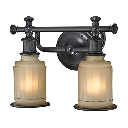 Elk Lighting 52011 2 Acadia Collection 2 Bath Light, Oil Rubbed Bronze