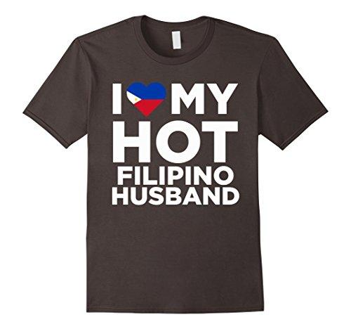 Mens I Love My Hot Filipino Husband Cute Philippines Native Relationship T-Shirt 2XL - Philippines Men Hot