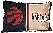 NBA Toronto Raptors Jumbo Bed Pillow for Kids, Funky Fur Shaggy Pillow, Soft and Cozy Warm Plush Cushion for B
