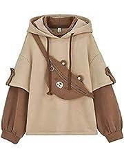 Dames Japanse lange mouw hoodie tiener anime beer trui schattige kawaii casual hoodie k-pop streetwear nieuwste stijl gift hoodie