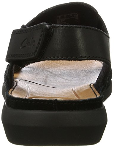 Clarks Herren Trisand Bay Sandalen Schwarz (Black Leather)