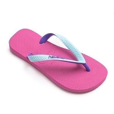 e92955f950eeb0 Havaianas Top Mix Pink Purple Strap Flip Flops Thongs Unisex Size Brazil  Beach
