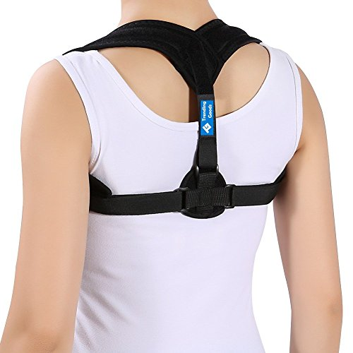 Posture Corrector for Women, Men and Kids. Helps to improve posture. Back pain reliever. Best fully adjustable. By Trending Goods