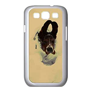Dog Running In Snow Watercolor style Cover Samsung Galaxy S3 I9300 Case (Pets Watercolor style Cover Samsung Galaxy S3 I9300 Case)