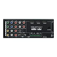 SODIAL(R) Multi-Function Video/Audio Switch Box with 8 Inputs to 1 HDMI Output with Spdif / Coaxial Surround 5.1 Channel Output