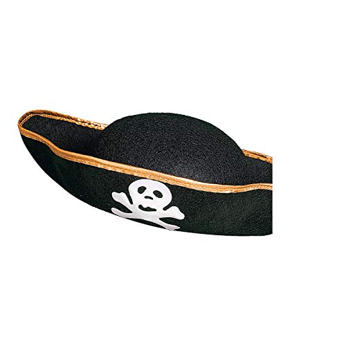 Fun Express Pirate Adult Felt 1 Hat, Black