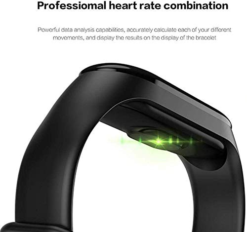 SHOPTOSHOP Heart Rate Monitor with Activity Fitness Tracker Waterproof Body Functions Like Steps and Calorie Counter, Blood Pressure, LED Touchscreen M3 Smart Band Watch