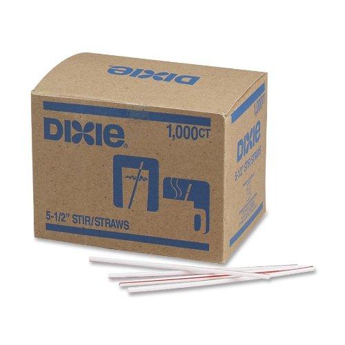 Dixie HS551 Polypropylene Stir Straw, Unwrapped, 5.5