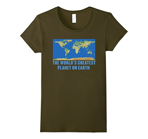Womens The World's Greatest Planet on Earth T-Shirt Small ()