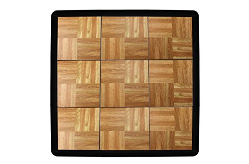 1/2'' Interlocking Modular Grid-Loc Tap Dance Tiles (Oak) - 9 Piece Set with Edge Pieces by Incstores