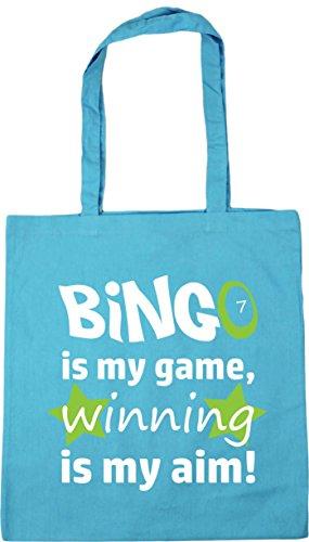 my my Aim Game is 42cm Blue Bag 10 Winning Surf HippoWarehouse Gym Tote Beach Bingo is Shopping x38cm litres 0qX0EY
