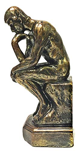 (Bellaa 25587 Rodin The Thinker Statue Fine Art Sculpture 9 inch)