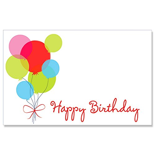 Happy Birthday Balloon Enclosure Cards / Gift Tags - 3 1/2 x 2 1/4 ()