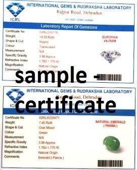 Divya Shakti (11.25 + 11.25 Carat Emerald + American Diamond/Budh Shukra/Mercury Venus Silver Pendant/Locket (AAA Quality) by Divya Shakti (Image #1)