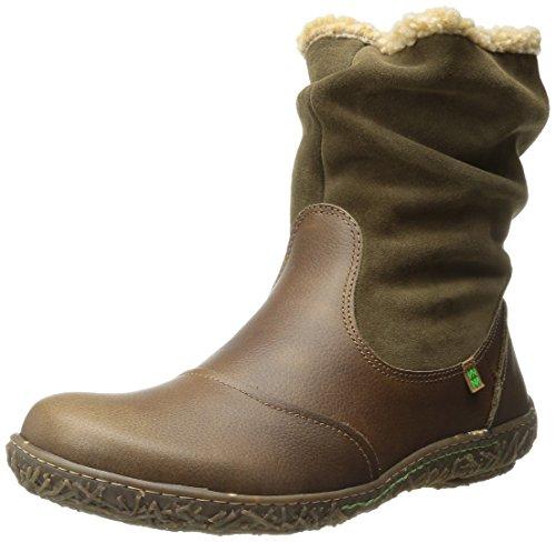 El Naturalista Nido, Women's Fur Lined Ankle Boots Kaki