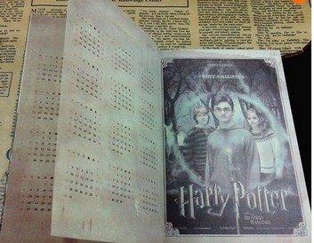 Agenda vintage de Harry Potter con calendario 2017-2018-2019 ...