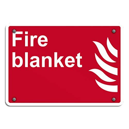 Aluminum Weatherproof Metal Sign Multiple Sizes Fire Blanket Fire OSHA/Ansi 14INx10IN Horizontal Street Signs Set of 5