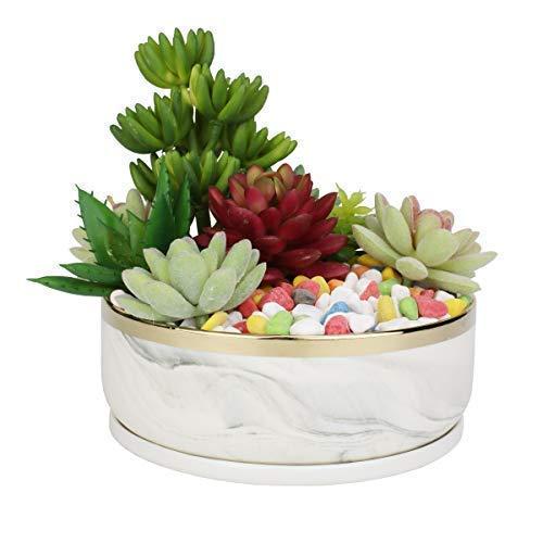 white marble flower pot - 8