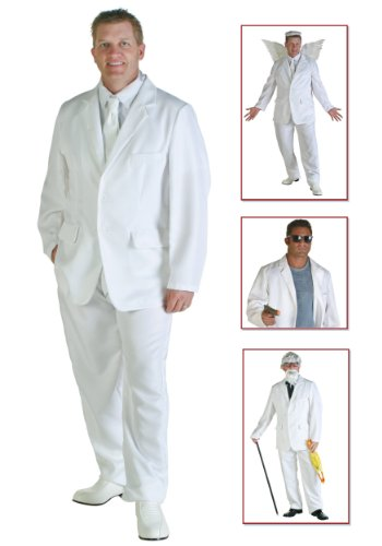 Colonel Costumes Halloween Sander (Plus Size White Suit Costume 2X)