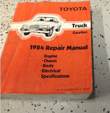 1984 TOYOTA TRUCK PICK UP Service Repair Shop Manual NEW 84 FACTORY DEALERSHIP