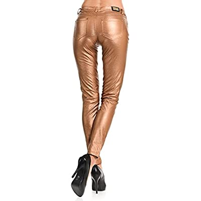 VIRGIN ONLY Women's Skinny Metallic PU at Women's Clothing store
