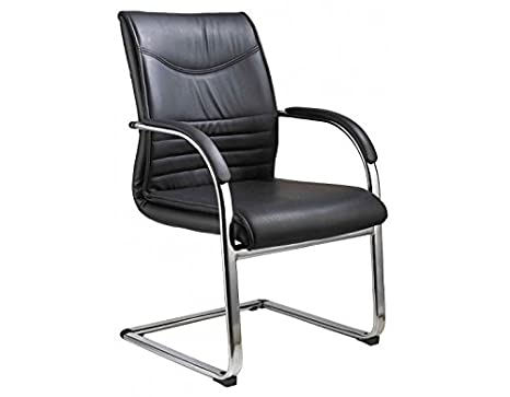BRICOGROUP Silla confidente Negra tapizada