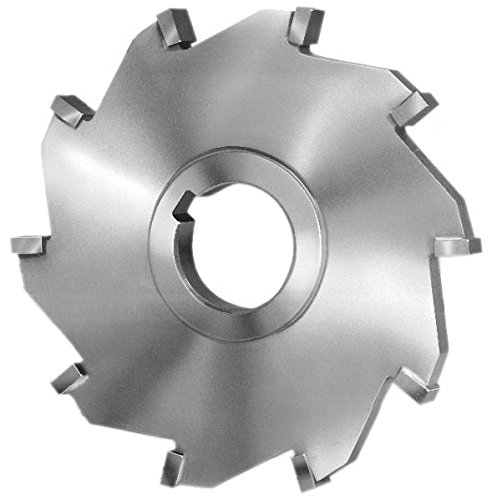 6'' Diameter x 1/2 '' Wide x 1'' Arbor Hole, Carbide Tipped Straight Tooth Side Milling Cutter by Super Tool