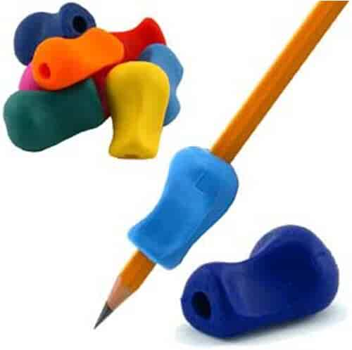 The Pencil Grip Original, Universal Ergonomic Writing Aid for Righties and Lefties, 6 Count Assorted Colors (TPG-11106)