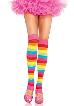 Leg Avenue Women's Rainbow Leg Warmers, Multi, One Size