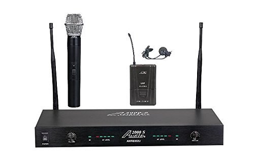 Audio2000'S AWM6002UL UHF 2-Channel Wireless Handheld/Lavaliere System by Audio 2000S