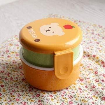 HJBH Lonchera de sándwich for niños - Cubo de bocadillos for Ensalada de Doble Capa for Adultos Mini preparación de Comidas for niños Mini Almacenamiento de Alimentos, Oso (Color : Rabbit): Amazon.es: