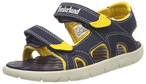 - Timberland Perkins Row 2-Strap Navy/Yellow Synthetic 10.5 M US Little Kid