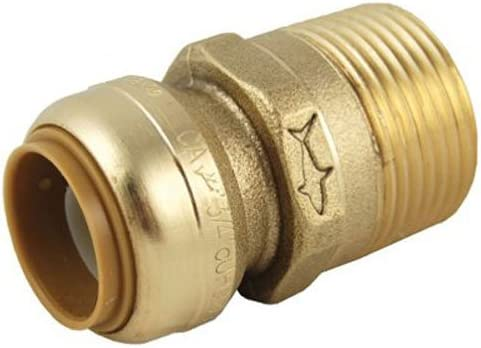 """100 PIECES 3//4/"""" SHARKBITE STYLE PUSH FIT X 3//4/"""" MNPT MALE THREADED ADAPTER"""