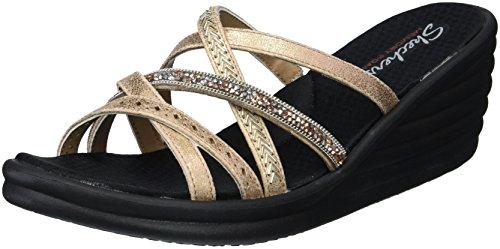 Skechers Cali Women's Rumbler Wave-New Lassie Slide Sandal,rose gold,9.5 M US