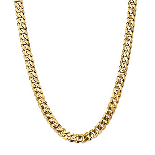 Jewels By Lux 14K Yellow Gold 9.5mm Beveled Curb Chain