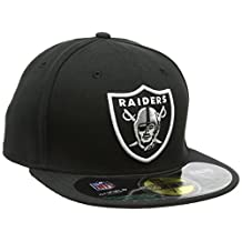 NFL Mens Oakland Raiders On Field 5950 Game Cap By New Era