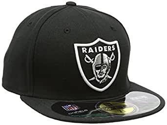 Amazon.com : NFL Mens Oakland Raiders On Field 5950 Game Cap By New Era : Sports Fan Baseball