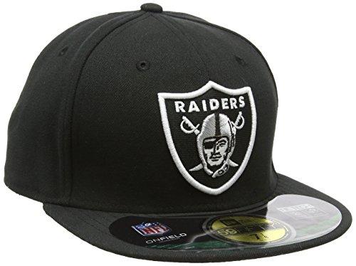 New Era Erwachsene Baseball Cap Mütze NFL On Field Oakland Raiders 59 Fifty Fitted, Team, 7 1/4, 10529755