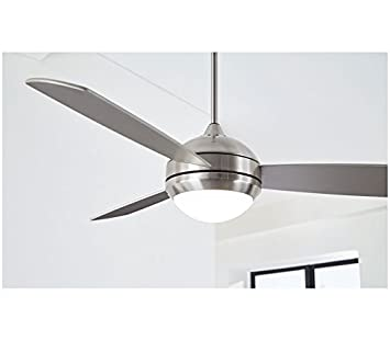 Monte Carlo 58 Discus Trio Max Brushed Steel with Bronze Blades, Remote Included