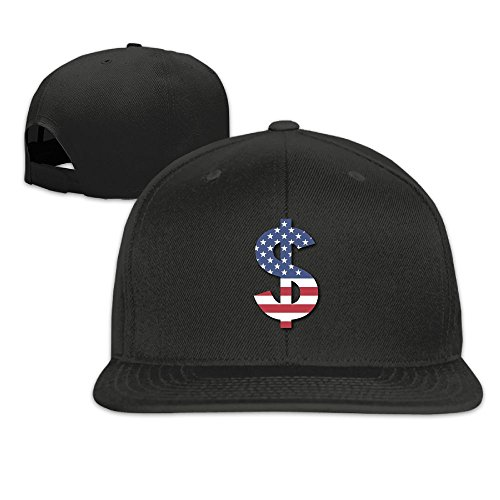Wear Us Army Beret (YY0XXAD Hat American Money Flag Hat Snap-Back Hip-Hop Cap Baseball Hat Head-Wear Cotton Snapback Hats Black)