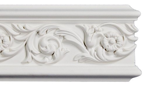 Flat Crown Molding - Plastic Flat Moulding Manufactured with a Dense Architectural Polyurethane Compound. FM-5531 Moldings. (6)