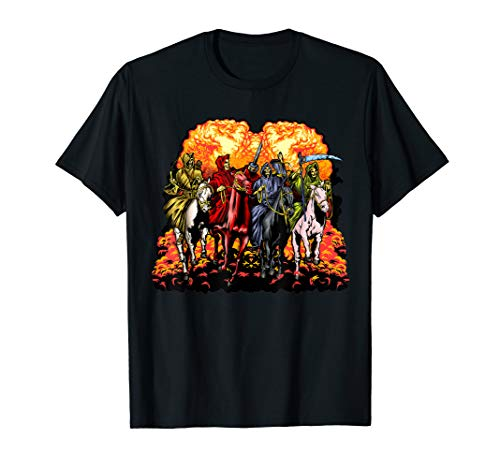 4 Horsemen Of The Apocalypse Revelation 6:1-8 Gift Tshirt