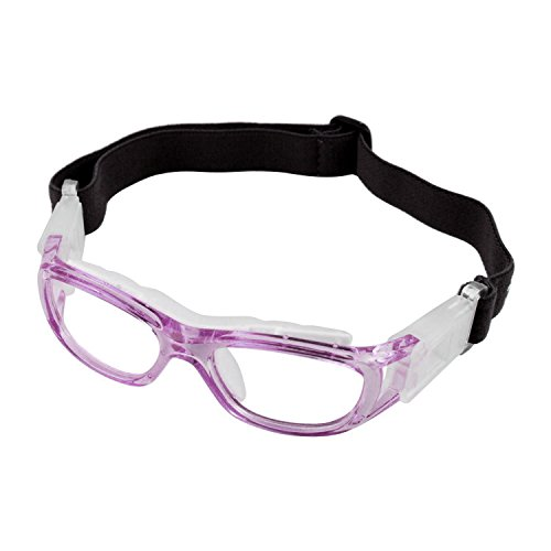Elemart(TM) Unisex Kids Sport Glasses Anti-fog Protective Safety Goggles w/ Adjustable Strap for Basketball Football Hockey Rugby Baseball Soccer Volleyball and More (Purple)