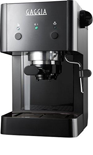 Gaggia GG 2016 Independiente Máquina espresso Negro 1 L Manual – Cafetera (Independiente, Máquina espresso, 1 L, De café molido, 950 W, Negro)