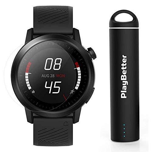 COROS APEX Premium Multisport GPS Watch   Power Bundle Includes PlayBetter Portable Charger & Screen Protectors   COROS Trainer (Black, 46mm)